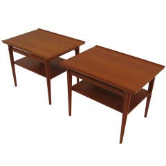 Pair Of 500 Series Occasional Tables by Finn Juhl
