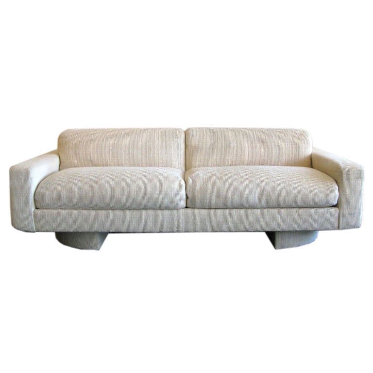 Custom 1980s Down Filled Sofa By Directional At 1stdibs