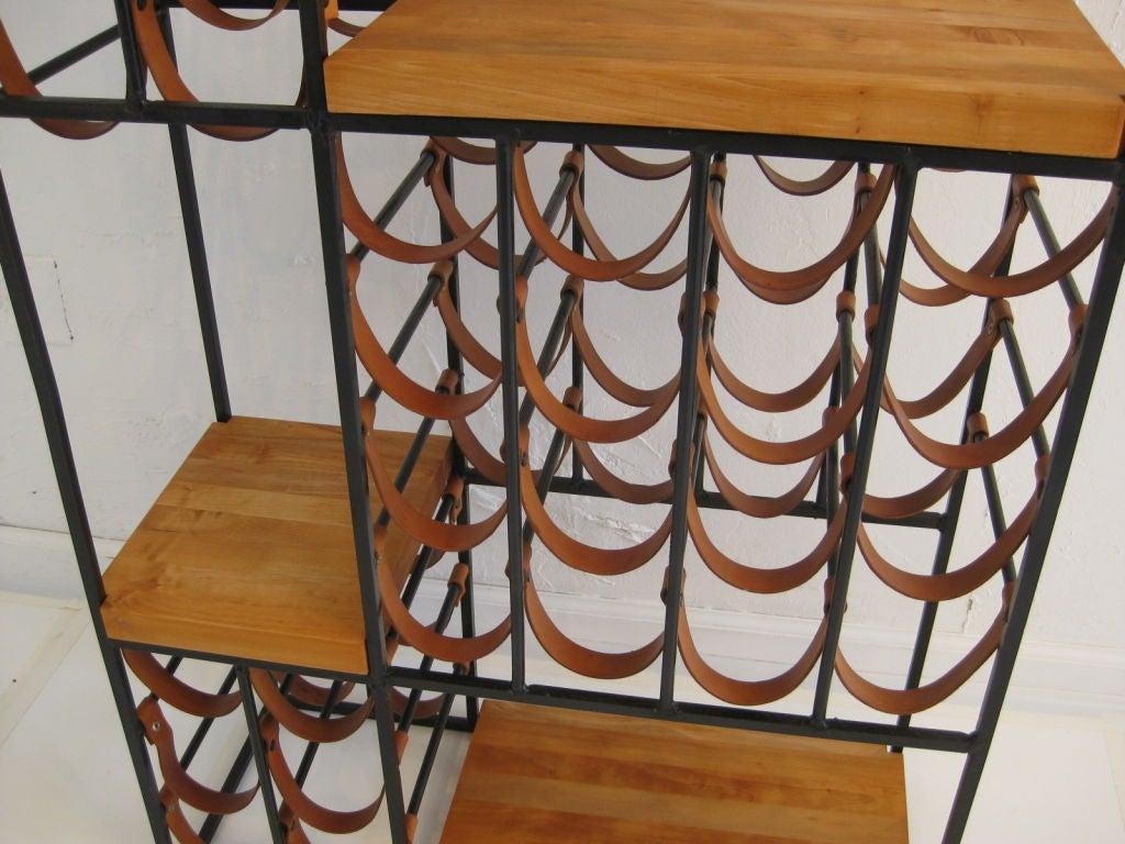 40 bottle butcher block wine rack by paul mccobb at 1stdibs
