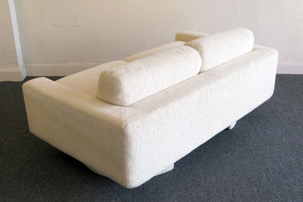 Custom 1980s Down Filled Loveseat Sofa By Directional At 1stdibs