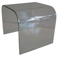 Bent Glass Side or Lamp Table by Fiam