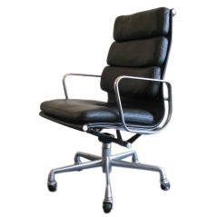 Leather and Aluminum Desk Chair by Eames for Herman Miller