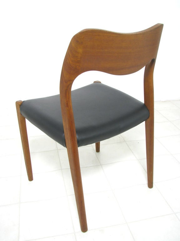 Set Of Ten Danish Teak Dining Chairs By Niels Moller At 1stdibs