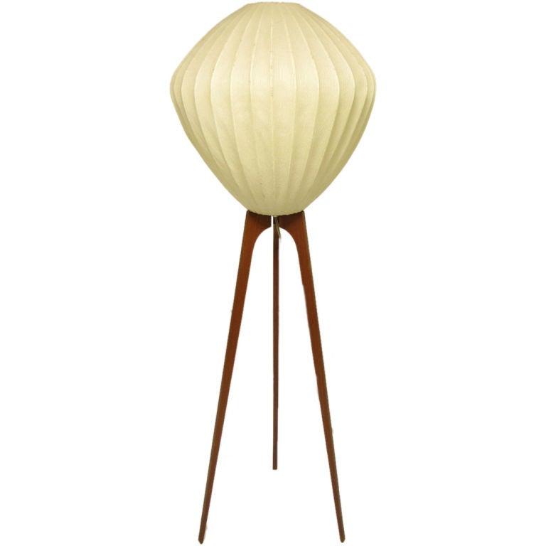 Danish Teak Atomic Tripod Floor Lamp ca. 1960s at 1stdibs