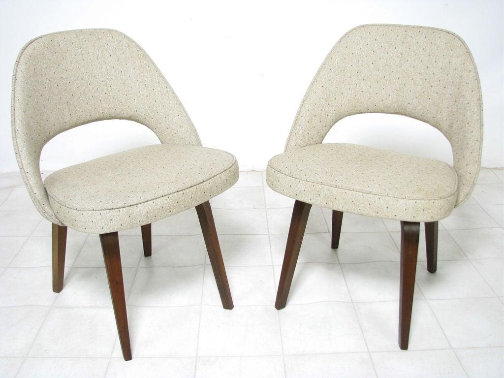 Chair saarinen executive chair - Pair Of Early Saarinen Executive Chairs For Knoll Ca 1950s 2