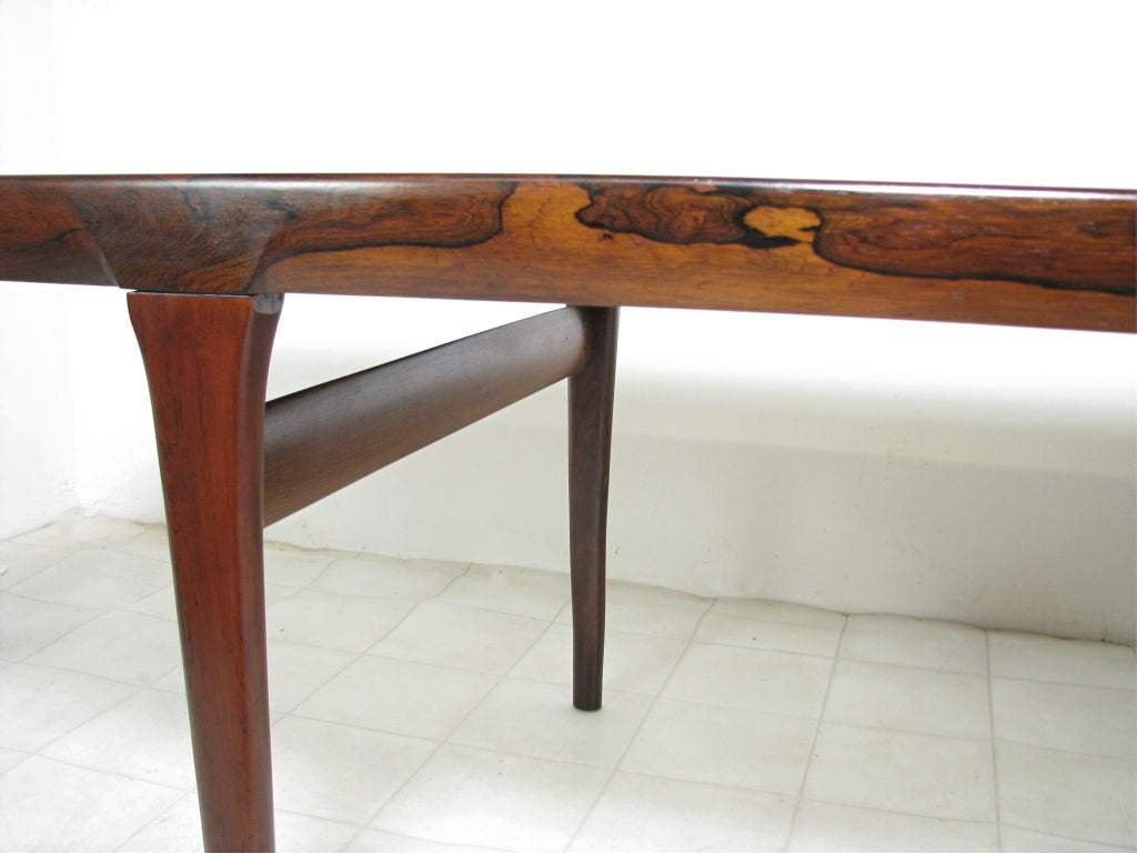 danish rosewood dining table by johannes andersen ca 1960s at 1stdibs