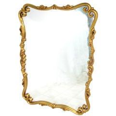 Ornate Carved Gold Leaf Hollywood Regency Style Mirror