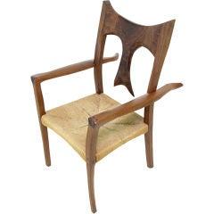 Striking Sculptural Craftsman Studio Arm Chair