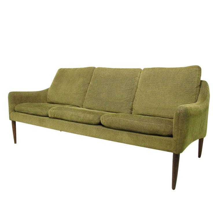 Danish Sofa With Rosewood Legs At 1stdibs