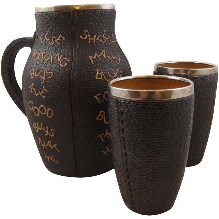 Doulton Lambeth Stoneware Motto Jug Set At 1stdibs