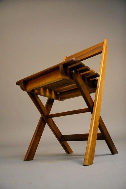 Set of brazilian exotic hardwood folding chairs at stdibs
