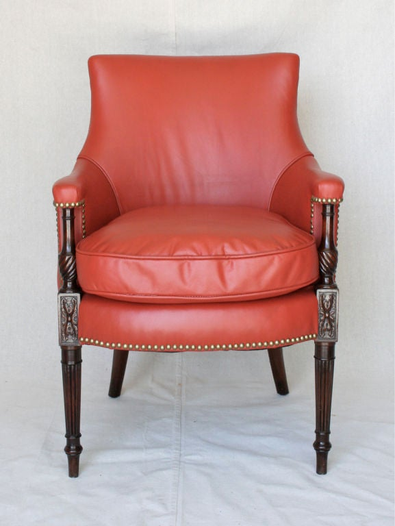 Regency Style Upholstered Arm Chair At 1stdibs