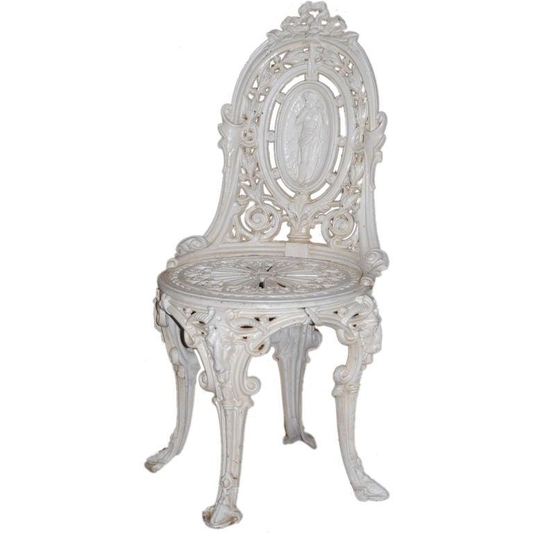 Victorian cast iron garden chair at 1stdibs for Cast iron garden furniture