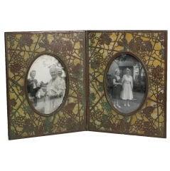 "Tiffany Studios ""Grapevine"" Double Picture Frame"