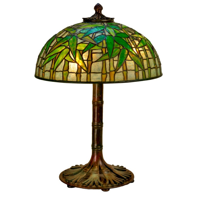 Tiffany studios quotbambooquot table lamp at 1stdibs for Tiffany bamboo floor lamp