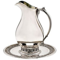 Sterling Silver Pitcher and Under Tray by Wallace