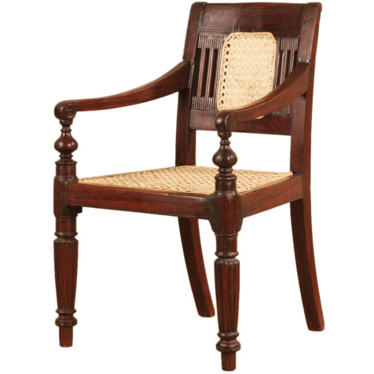Anglo indian caned rosewood childs chair at 1stdibs for Furniture indiana pa