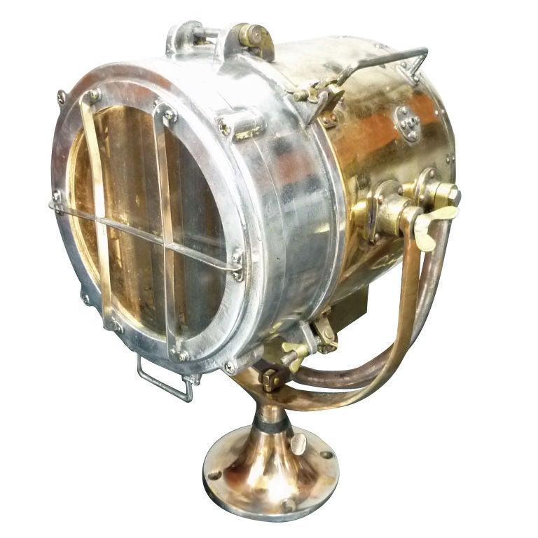 Brass And Aluminum Ship Signal Light At 1stdibs