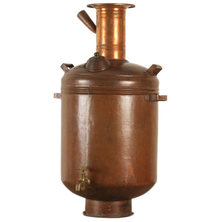 Copper Hot Water Maker Or Samovar From India At 1stdibs