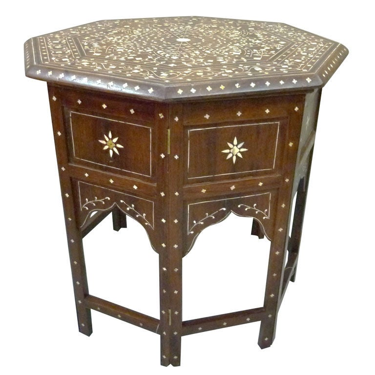 Anglo indian octagonal rosewood side table or teapoy at for Teapoy table designs