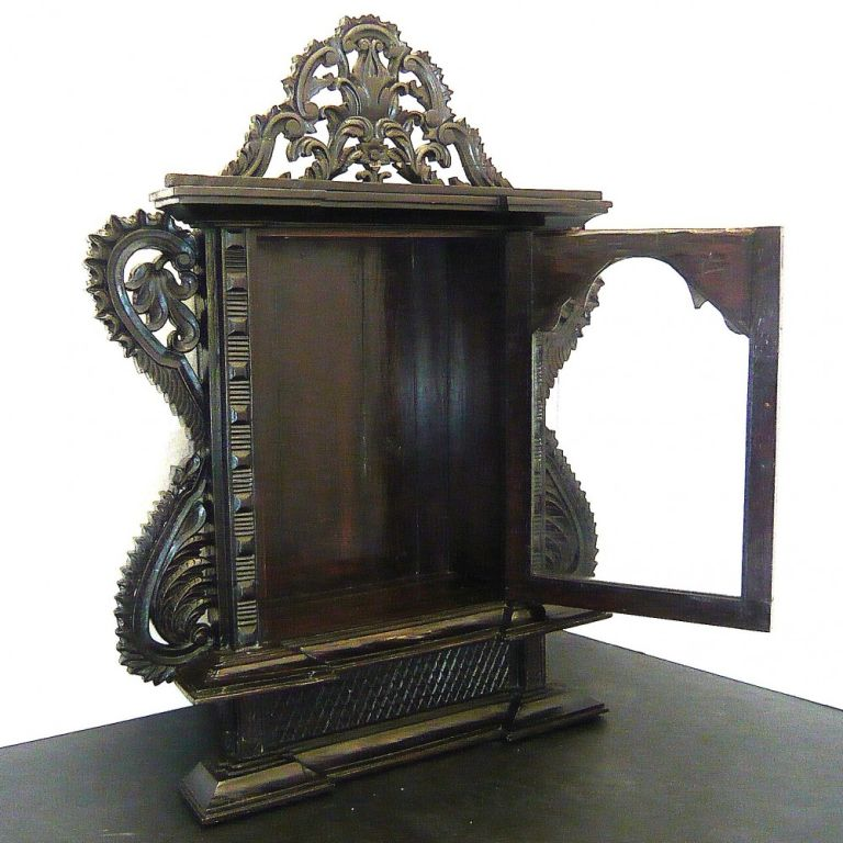 Indo portuguese rosewood altar at 1stdibs for Altar wall decoration