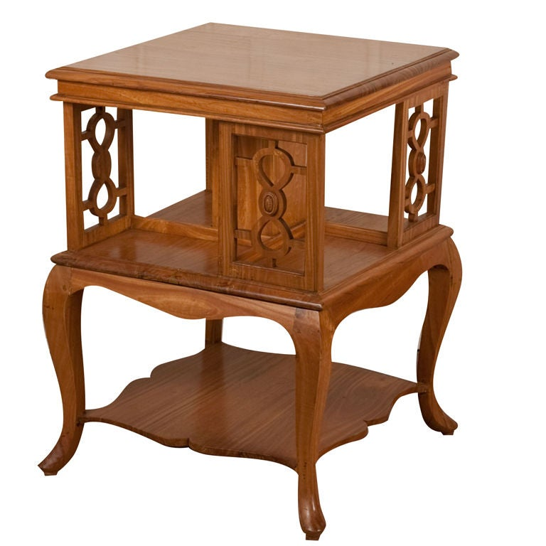 anglo indian satinwood revolving side table at 1stdibs