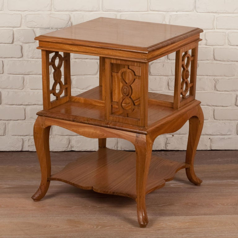 Anglo indian satinwood revolving side table for sale at for Revolving end table