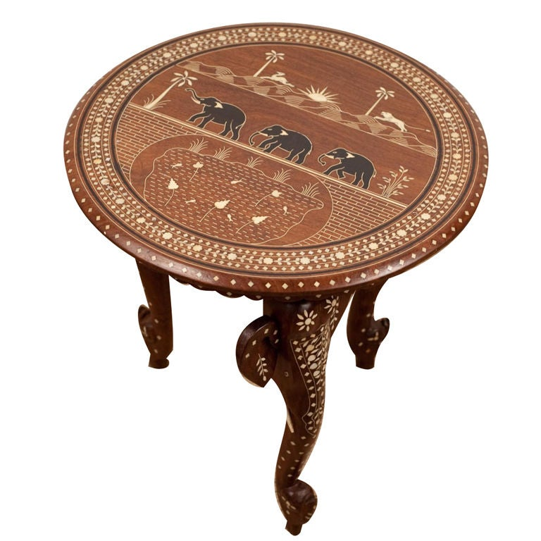 Anglo Indian Rosewood Side Table With Elephant Detailing At 1stdibs