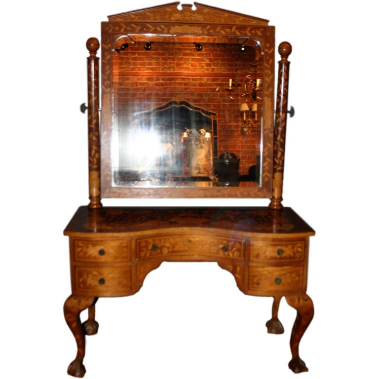 Late 19th Century Dutch Marquetry Dressing Table