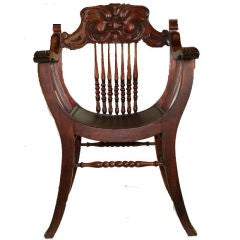 """American Victorian """"Grotesque"""" Steambent Chair"""