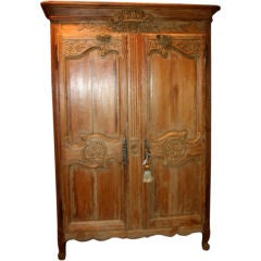 French Oak Wedding Armoire