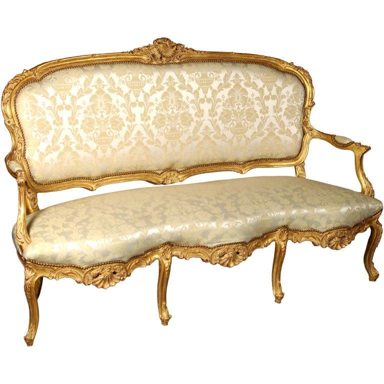 Louis xv italianate style beechwood sofa at 1stdibs - Sofas de estilo ingles ...
