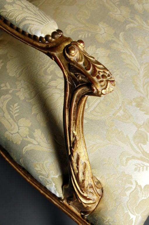 Louis XV Italianate Style Beechwood Sofa For Sale 1