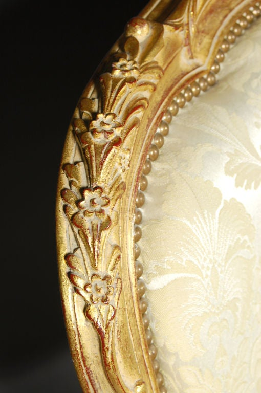 Louis XV Italianate Style Beechwood Sofa For Sale 2