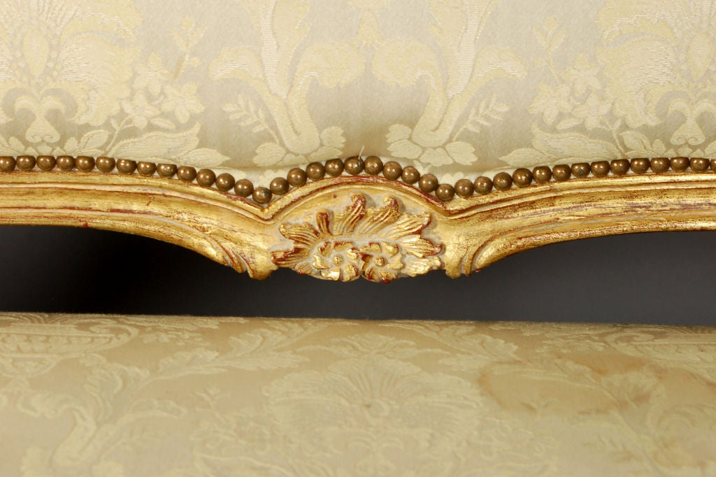 Louis XV Italianate Style Beechwood Sofa 6