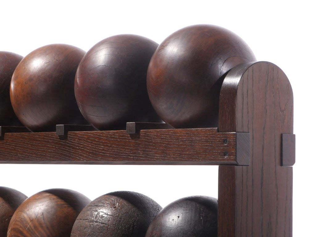 Lignum Vitae Bowling Ball Rack For Sale 3