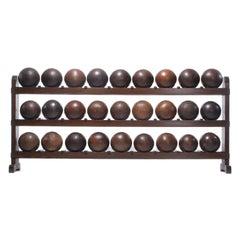 Lignum Vitae Bowling Ball Rack