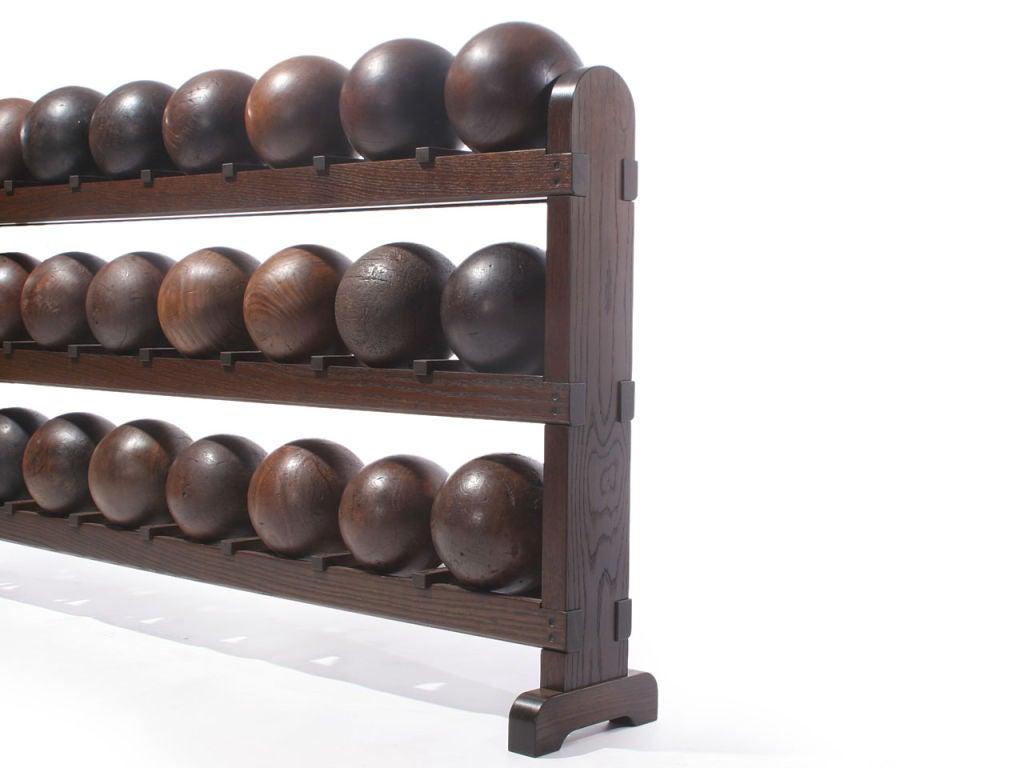 Lignum Vitae Bowling Ball Rack For Sale 1
