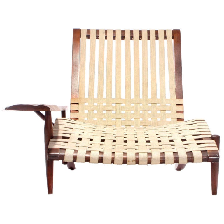 The Black Walnut Long Chair Designed By George Nakashima