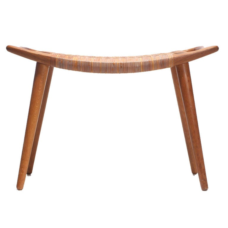 An Oak And Cane Bench By Hans Wegner At 1stdibs