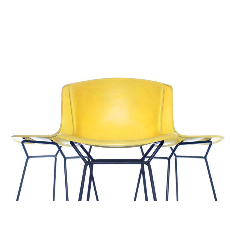 Lemon Yellow Stools Designed By Harry Bertoia At 1stdibs