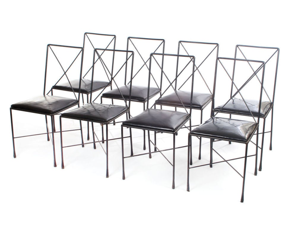Wrought Iron X Back Dining Chairs Designed By Darrell Landrum At 1stdibs