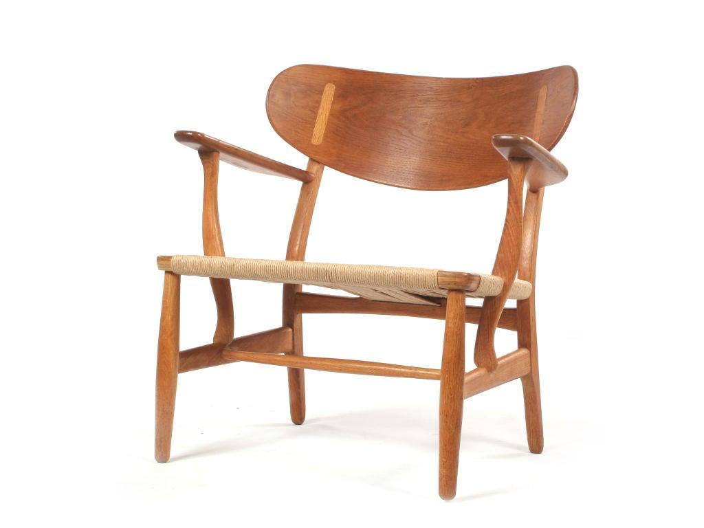 easy chair in oak by hans wegner at 1stdibs