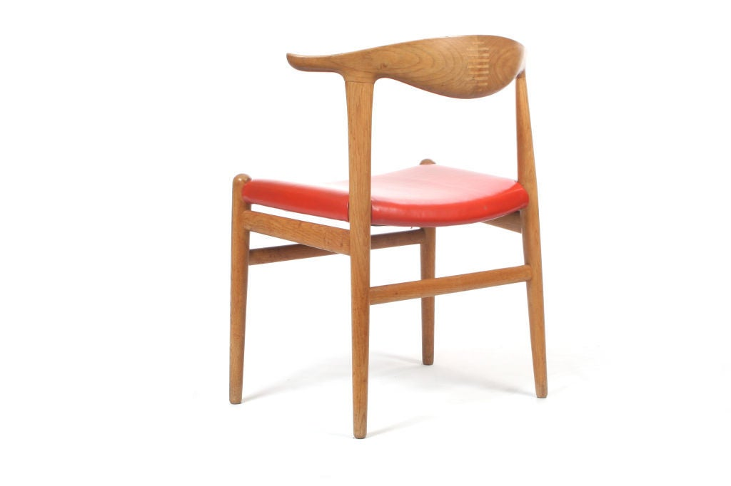 This four wishbone chairs by hans wegner is no longer available - The Cow Horn Chair By Hans Wegner At 1stdibs
