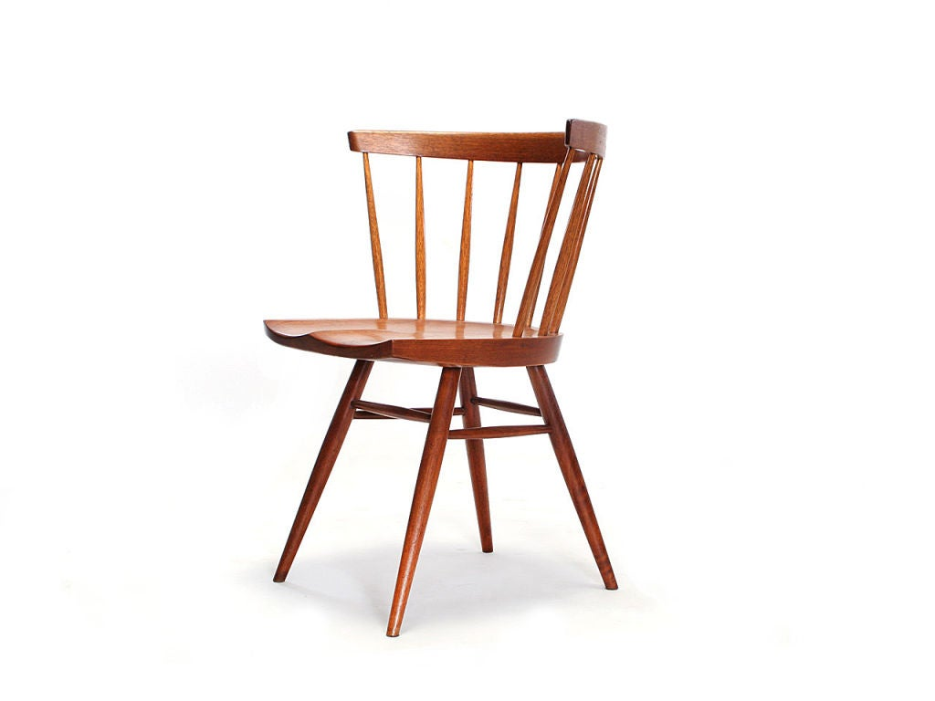 Mid Century Modern The Straight Backed Chair Designed By George Nakashima 1947 For