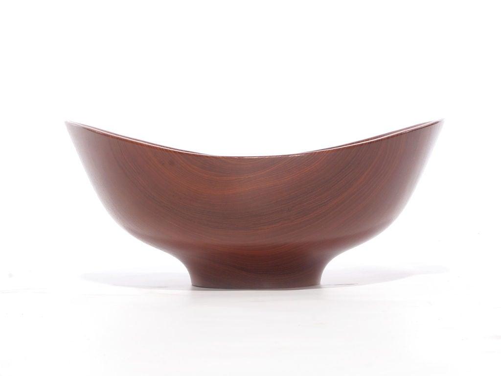 Scandinavian Modern 1950s Danish Teak Salad Bowl by Finn Juhl for Kay Bojesen For Sale