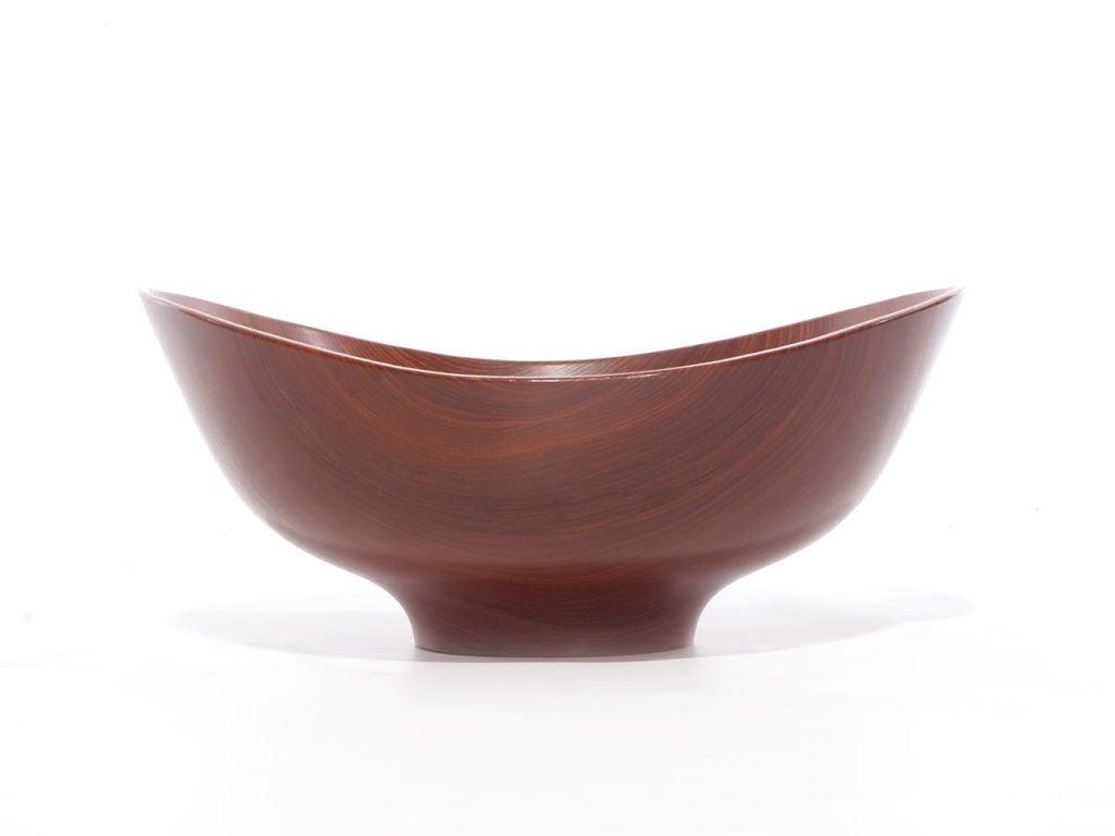 Turned 1950s Danish Teak Salad Bowl by Finn Juhl for Kay Bojesen For Sale