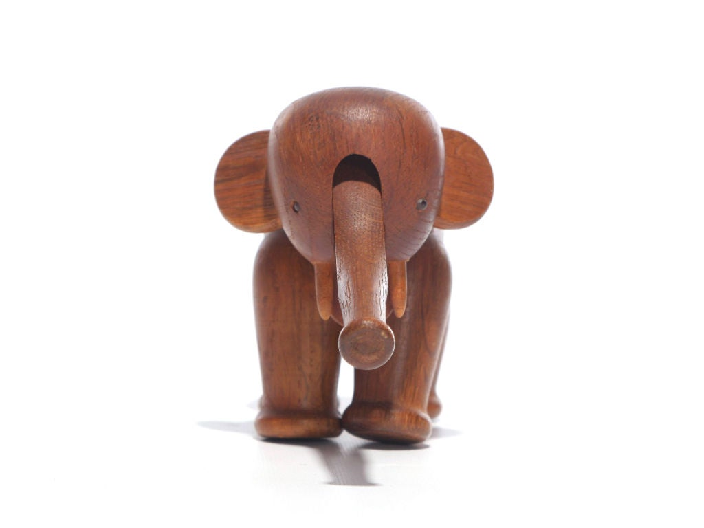 The Classic oak elephant with movable legs and trunk.