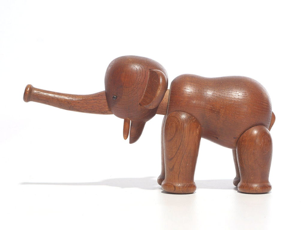 Danish Oak Elephant by Kay Bojesen For Sale