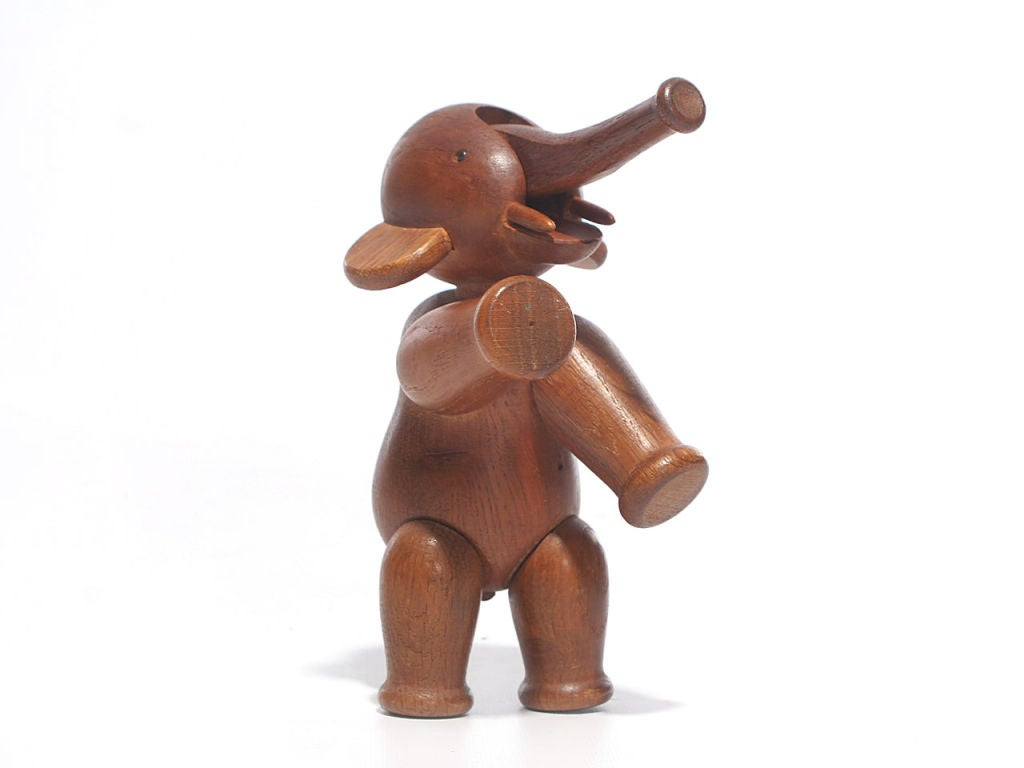 Oak Elephant by Kay Bojesen For Sale 2